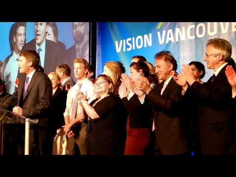 CoV Mayor-electGregor Robertson victory speech 20111119