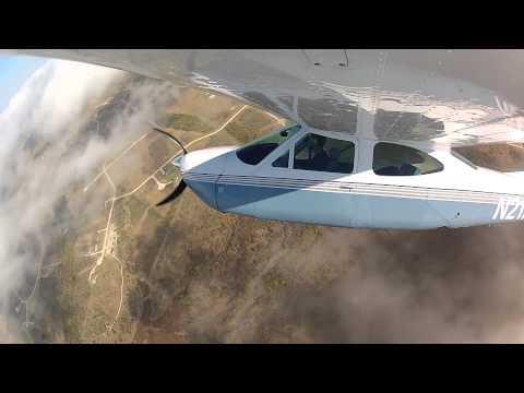 Cessna 177RG GoPro Wing Mount takeoff