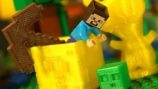 Печатаем ИГРУШКИ на 3D ПРИНТЕРЕ - Лего НУБик Майнкрафт Мультики - LEGO Minecraft Animation DIY