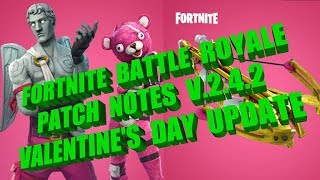 Fortnite Battle Royale Valentine's Day Update - Patch Notes V.2.4.2