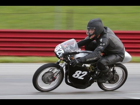Vintage Motorcycle Race Day. Mid Ohio