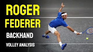 Roger Federer - Backhand Volley Analysis
