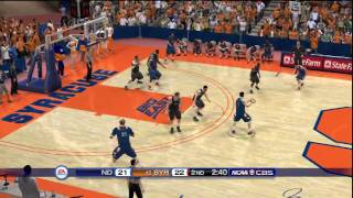 NCAA Basketball 10 (PS3) Notre Dame vs. Syracuse CPU game - SECOND HALF