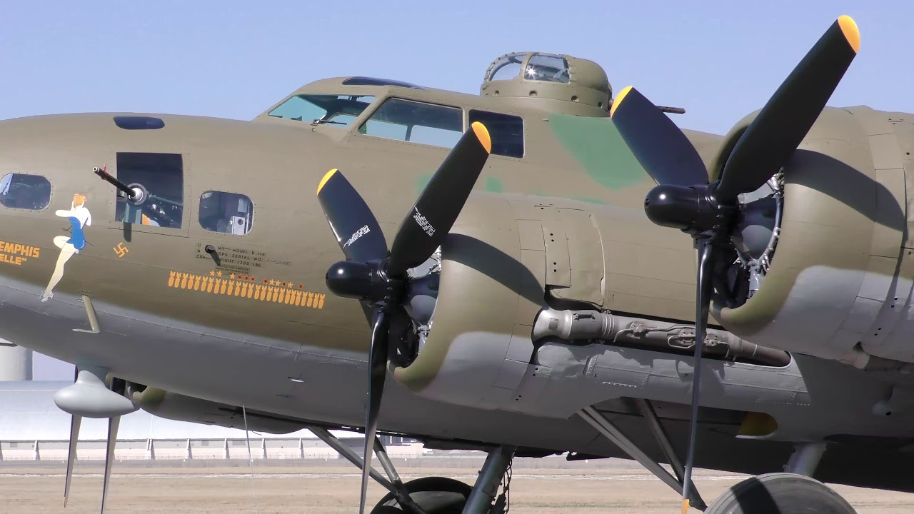 Ultra HD footage of the B-17F Memphis Belle from 10 March 2018. Footage by Ken  LaRock-Public Affairs Division at the National Museum of the U.S. Air Force.