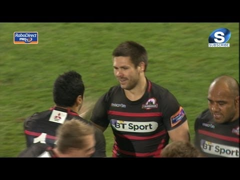 Excellent Cornell du Preez Try - Ulster v Edinburgh, Friday 22nd Nov 2013