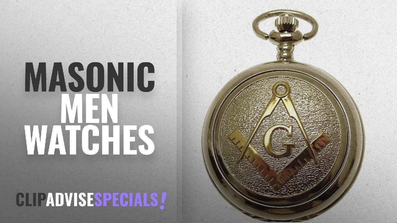 be0b7ffda 10 Best Selling Masonic Men Watches [2018 ]: Masonic Pocket Watch Silver  Two Tone Design Mechanical