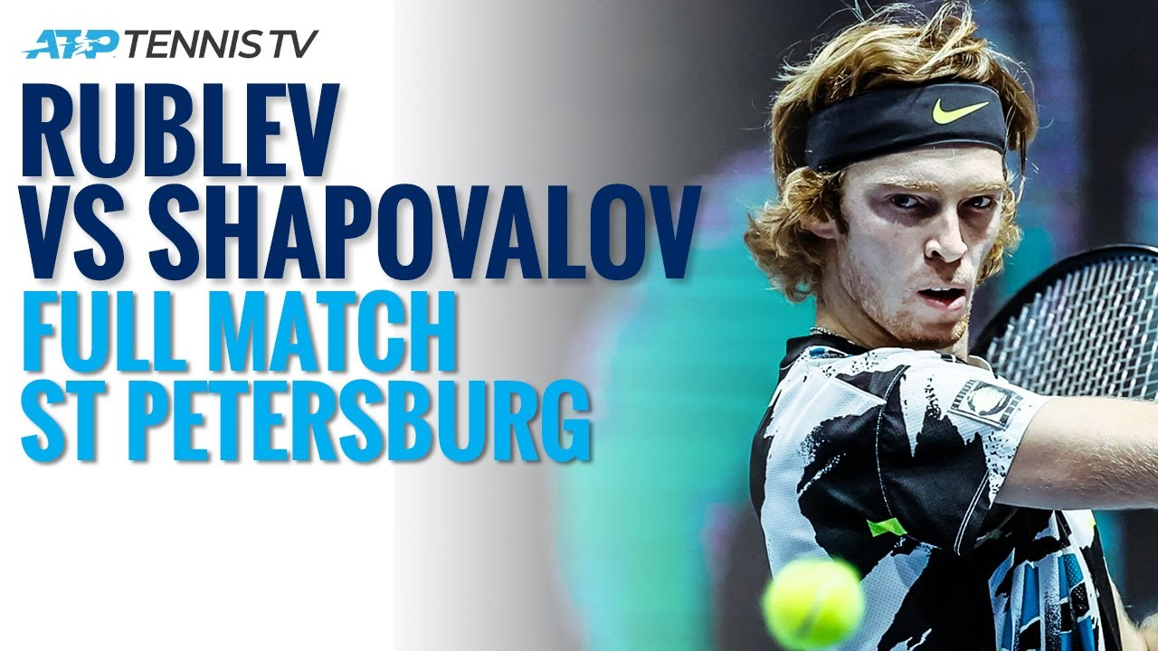Andrey Rublev v Denis Shapovalov - Full ATP Tennis Match | St Petersburg 2020 Semi-Final