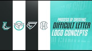 Illustrator: Process of Creating Difficult Letter Logo Concepts