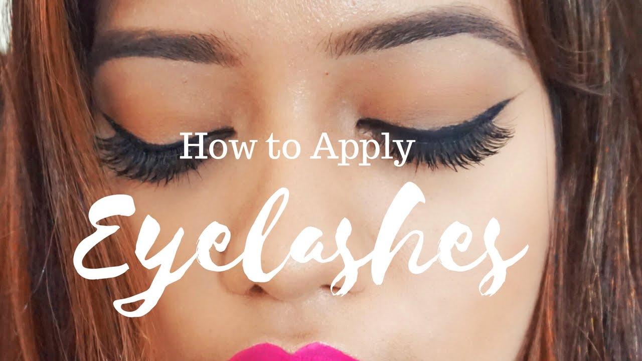How To Apply Eyelashes Debasree Banerjee Youtube