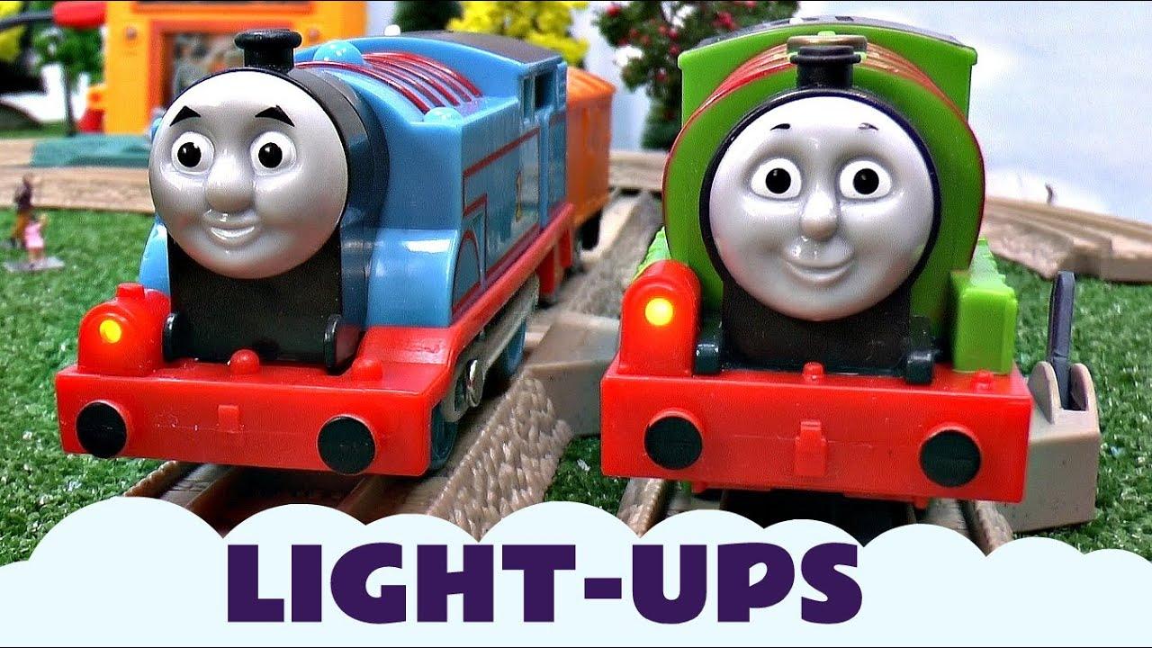 Kids Thomas Friends Toy The Tank Engine Percy Light Up Trains Train Set