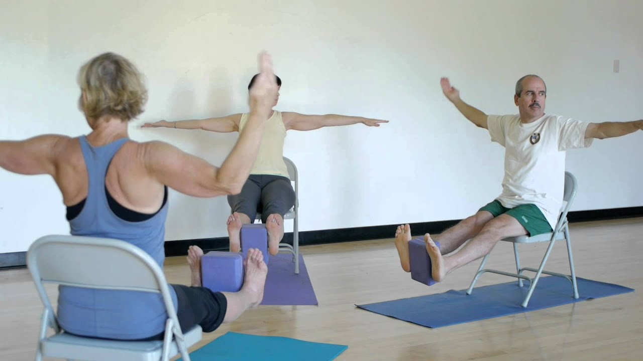 youtube chair yoga desk runner with terry roth schaff dandasana flow