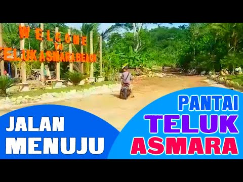 JALAN MENUJU PANTAI TELUK ASMARA MALANG; THE ROAD TO TELUK ASMARA BEACH OF MALANG (18 Juni 2017)