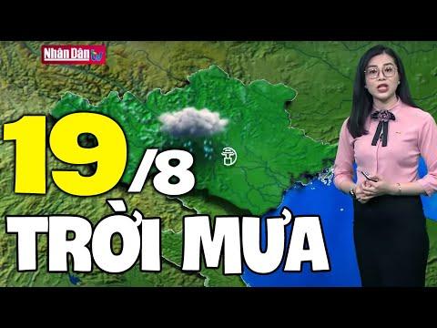 Dự báo thời tiết hôm nay và ngày mai 19/8 | Dự báo thời tiết đêm nay mới nhất