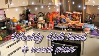 WEEKLY LIDL HAUL & MEAL PLAN FOR A FAMILY OF 4