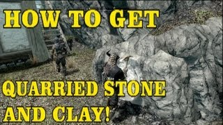 Skyrim Hearthfire DLC: How to get Quarried Stone and Clay