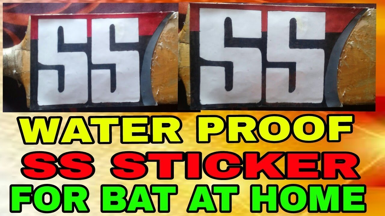 Water Proof Ss Sticker For Bat At Home Easy Way