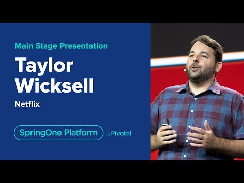 Taylor Wicksell and Tom Gianos at SpringOne Platform 2019