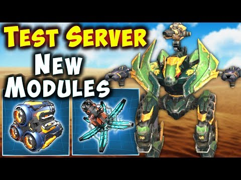 New ACCELERATOR & FORTIFIER Modules Test Server War Robots Gameplay WR