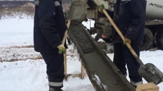 Бетон М-350 гранит, заливаем забор(, 2016-11-17T18:29:37.000Z)
