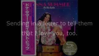 Donna Summer - On the Radio (Long Version GH Edit) LYRICS SHM On the Radio: Greatest Hits I & II
