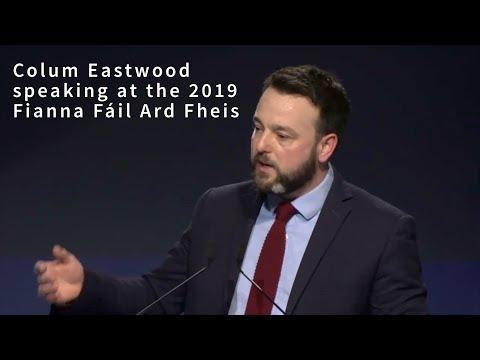 Colum Eastwood speaking at the Fianna Fáil Ard Fheis
