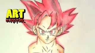 COMO DIBUJAR A GOKU FASE DIOS !!!! / Drawing Goku God