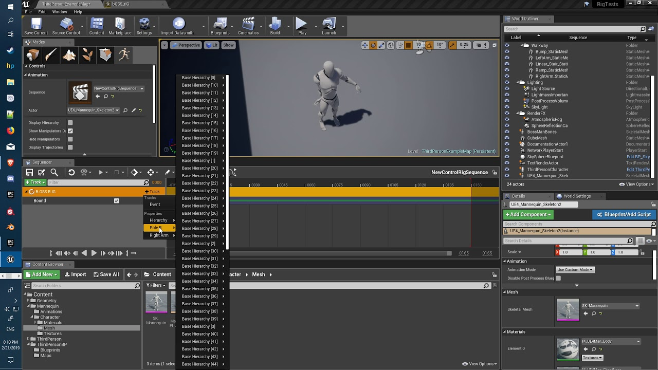 Unreal Engine Control Rig tutorial