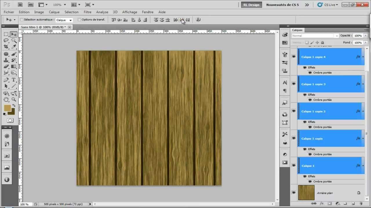 Tuto 10-Réalisation d'une texture de bois (version 2) avec Photoshop cs5 - YouTube