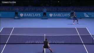 Murray's Hot Shot Backhand Smash vs Tsonga At The O2
