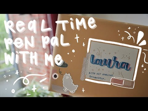 Real Time Penpal With Me — Soft Crafty Aesthetic — No Music, No Talking