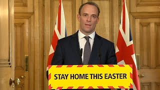 video: Coronavirus latest news: UK lockdown 'not done yet', says Dominic Raab, as death total rises by 881