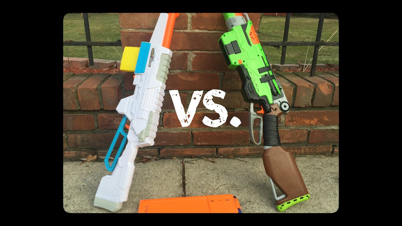 Nerf Slingfire Vs Buzz Bee Sentinel Battle for Best Lever Action