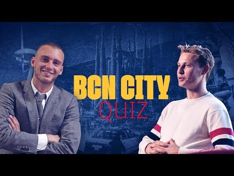 BARCELONA CITY QUIZ | Frenkie de Jong challenged by Jasper Cillessen