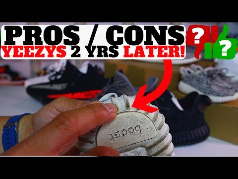 2 YEARS LATER! ADIDAS YEEZY BOOST 350 PROS / CONS (V1 & V2)