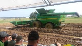 John Deere combine tracks vs tires