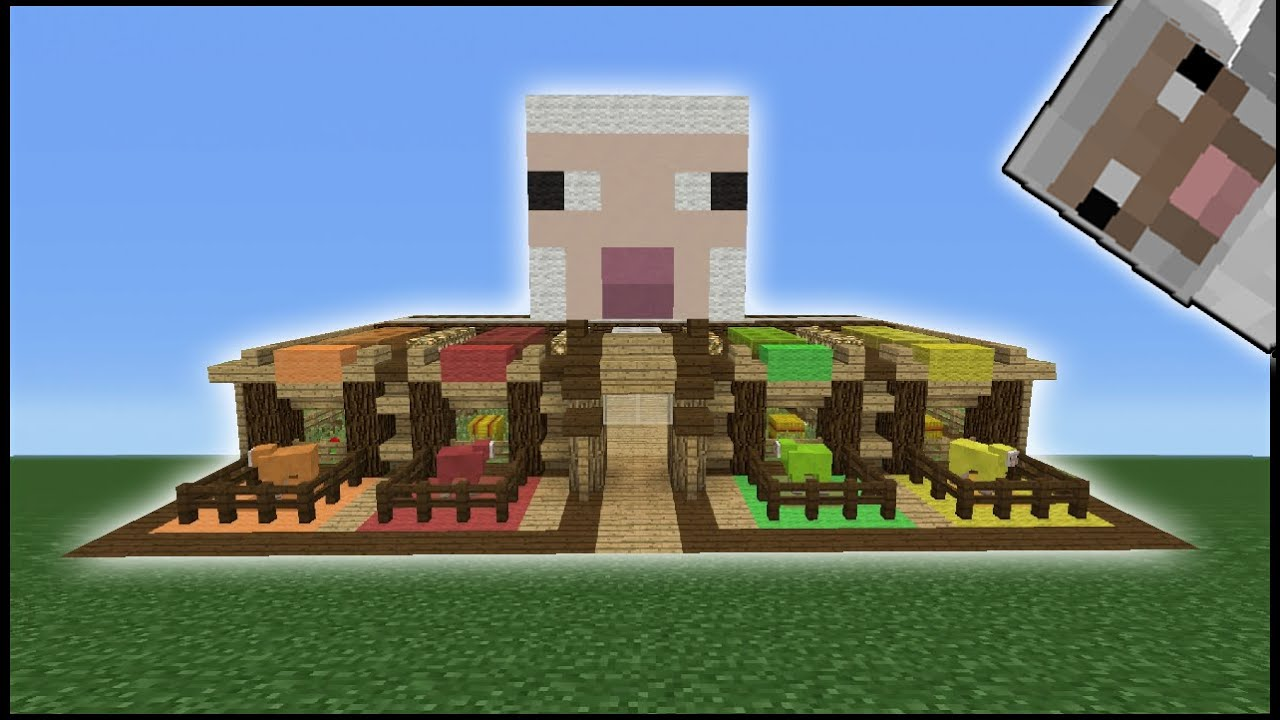 Minecraft Tutorial  How To Make A Sheep Pen