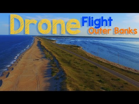 Drone Flight - Cape Hatteras Outer Banks North Carolina