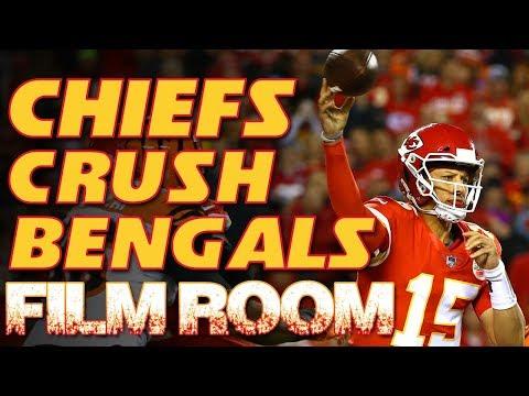 Film Room: Patrick Mahomes and Kareem Hunt dominate | Kansas City Chiefs vs Bengals NFL highlights