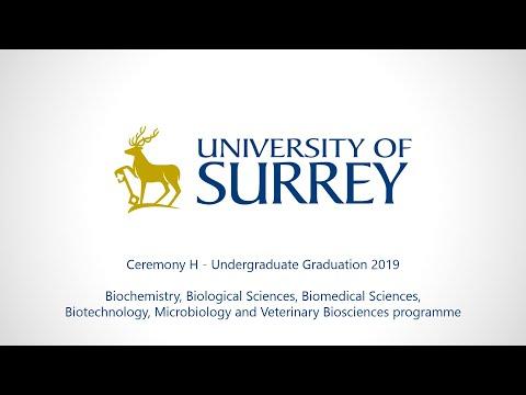 University of Surrey Undergraduate Graduation 2019 – Ceremony H (Wednesday 17 July)