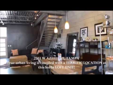 2503 W Azeele St, Tampa Fl Urban SoHo Townhome by #1 South Tampa Realtor RE/MAX