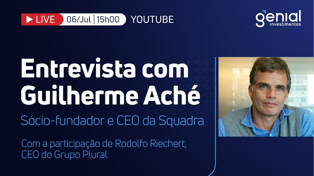 🔴 Live   Entrevista com Guilherme Aché, da Squadra