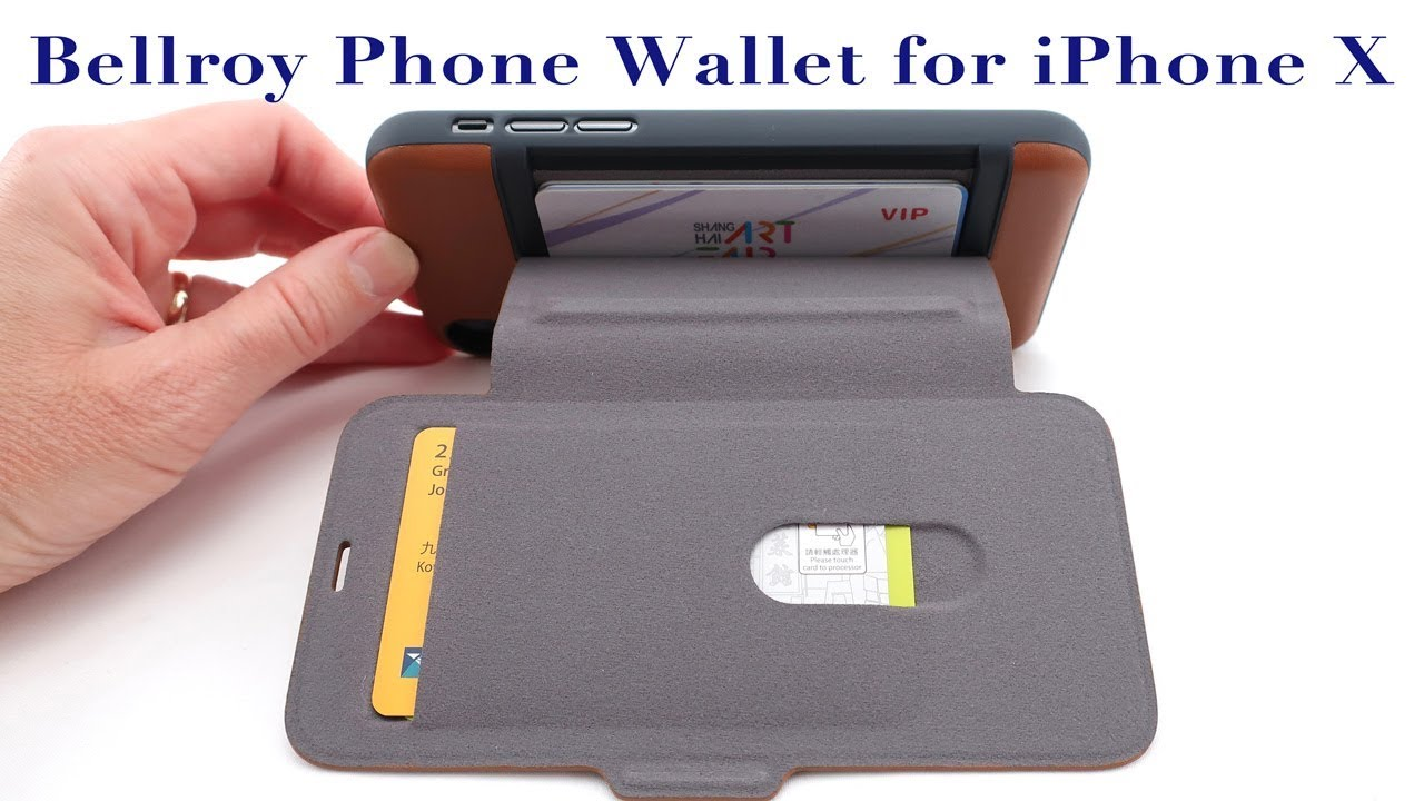 new style fa0cf 69986 Bellroy Leather Phone Wallet for iPhone X: 5 Card Capacity, Magnetic Clasp  & Bulge Free Design!