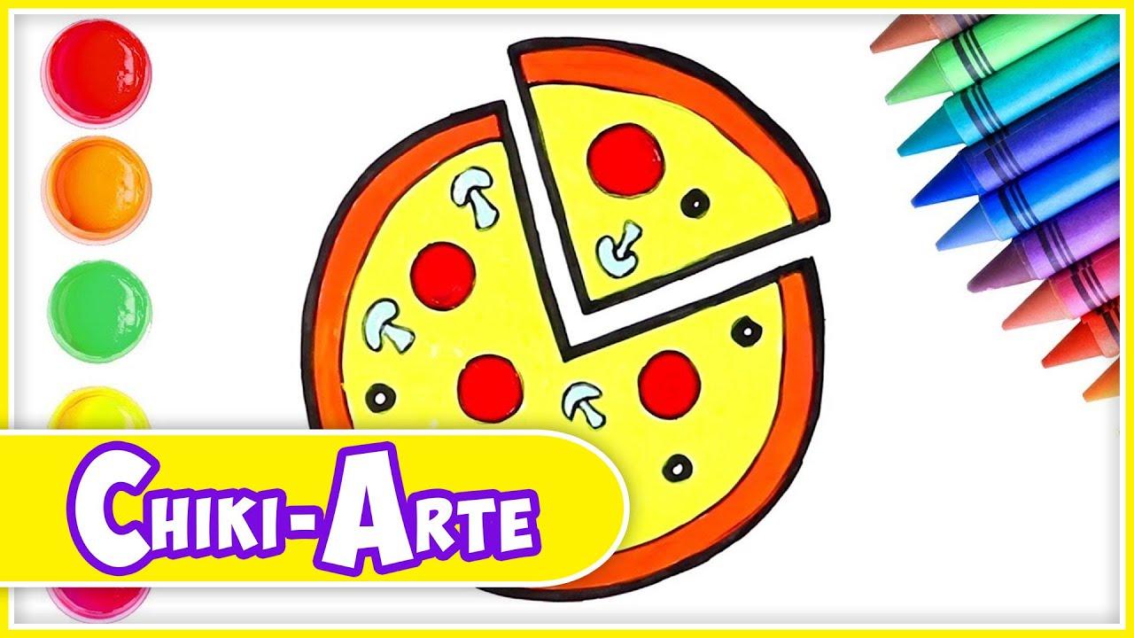 Aprende A Dibujar Una Pizza Dibujos Para Niños Los Juguetes Son Divertidos