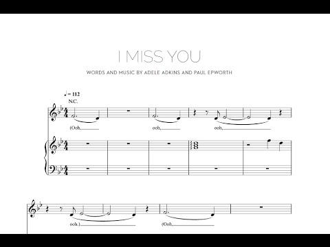 I Miss You  Adele Sheet & Midi Download