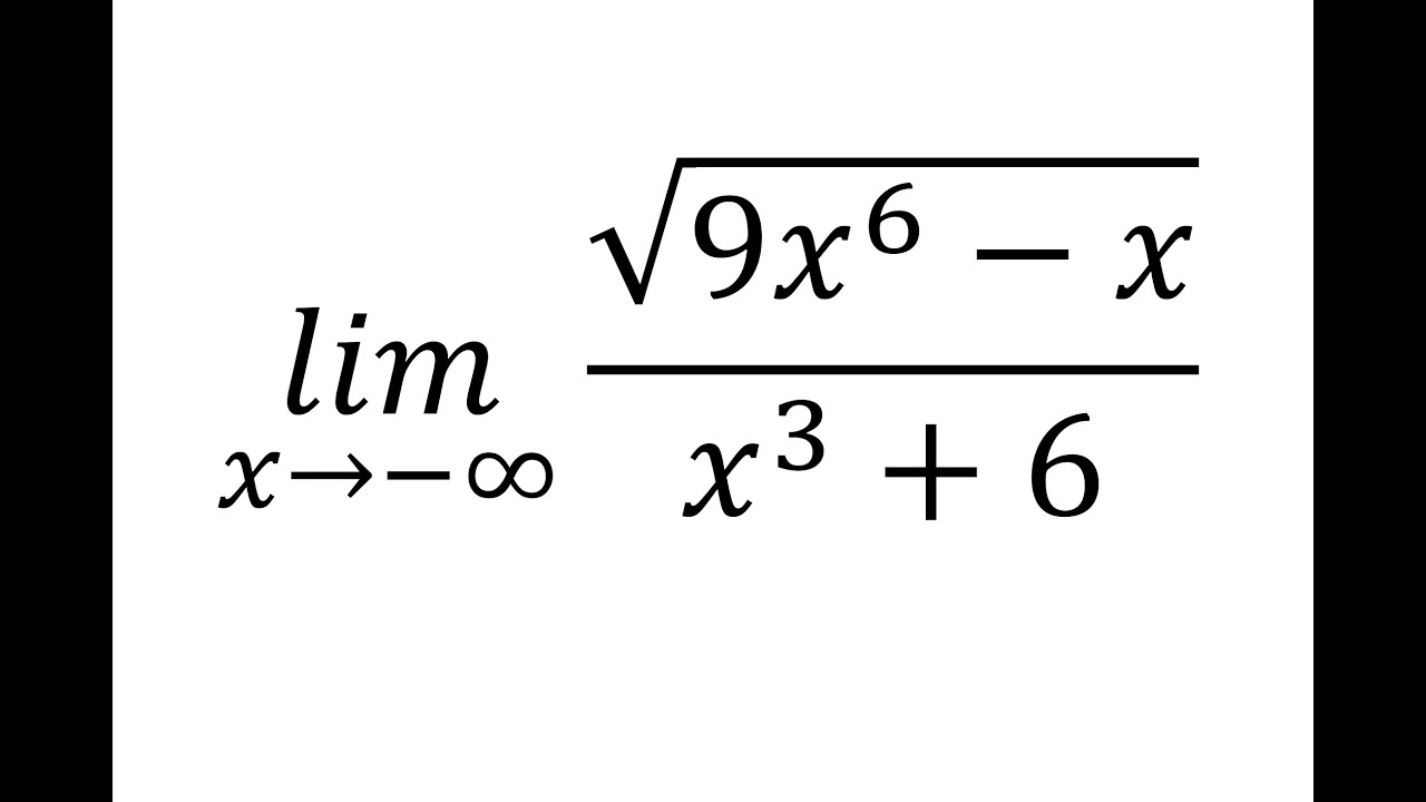 Limit of a rational square-root function as x approaches ...