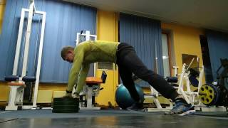 Отжимания от пола c 10 кг. (Push-ups on the floor c 10 kg.)