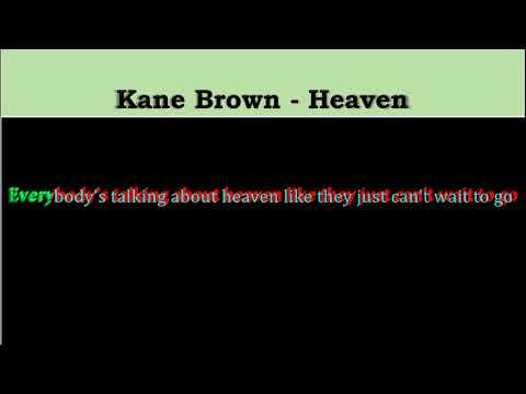 Kane Brown - Heaven (karaoke Video & Lyrics)