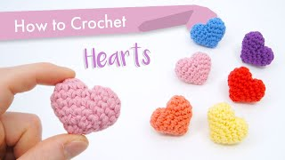 How to Crochet Claṡsic Hearts || Beginner Pattern and Tutorial