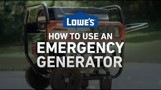 How To Use an Emergency Generator | Severe Weather Guide