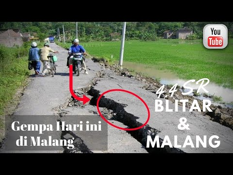GEMPA 4,4 SR Guncang Blitar dan Malang Selatan